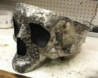 Sheet metal skull bowl