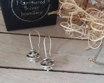 Sterling Silver ripple earrings