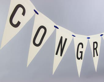 Congrats Bunting Congratulations Banner Graduation Party Wedding Garland Bridal Baby Shower Retirement Celebration Paper Letter 3102 BNTG