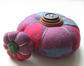 Fairy pumpkin pincushion