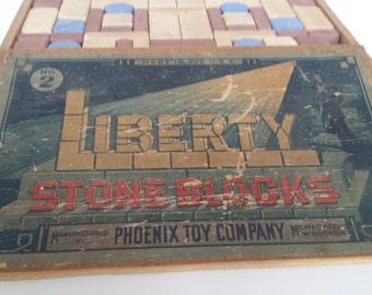 Phoenix Toy Company Stone Building Blocks Set 2