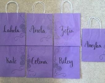 Birthday party goodie bag- goodie bag- gift bag - custom colored bag