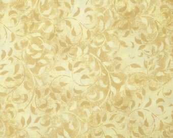 Fat Quarter -- Wilmington Essentials -Cream Climbing Vine --100% Cotton Fabric