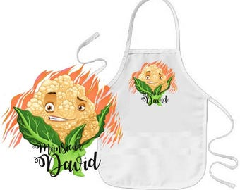 """Cauliflower"" personalized child apron"