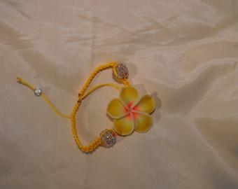 Shamballa yellow tiare flower