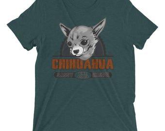 Chihuahua Vintage Style Short sleeve tri-blend t-shirt