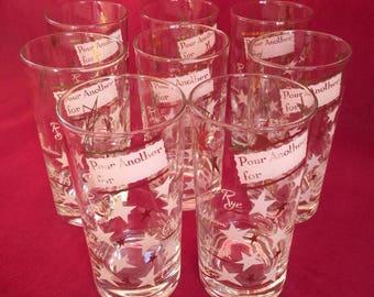 Set of 8 Mid-Century Highball Glasses