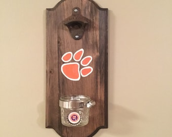 Clemson Tigers Rustic Wall-mounted Bottle Opener