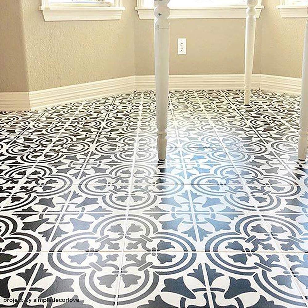 Augusta Tile Stencil Floor Painting Tile Stencils DIY