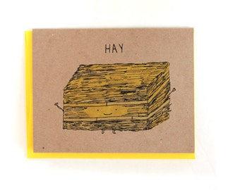 Hay Hey Hello Greeting Card