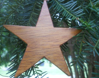 Handcrafted Wooden Star Christmas Tree Ornament