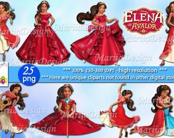 Elena of Avalor Clipart - 30 PNG, 300 Dpi, Elena of Avalor clip art, Elena of Avalor png, Princess elena clipart, princess elena clip art
