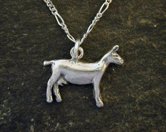 Sterling Silver Original Nanny Goat Pendant on a Sterling Silver Chain