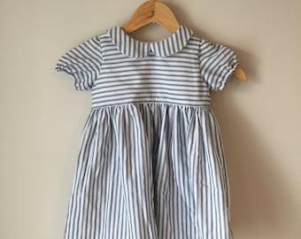 Striped Peter Pan Collar Dress
