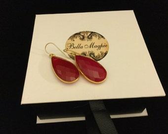 Reduced/Chalcedony Earrings