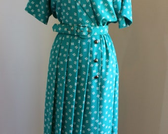 Teal/Green Day Dress