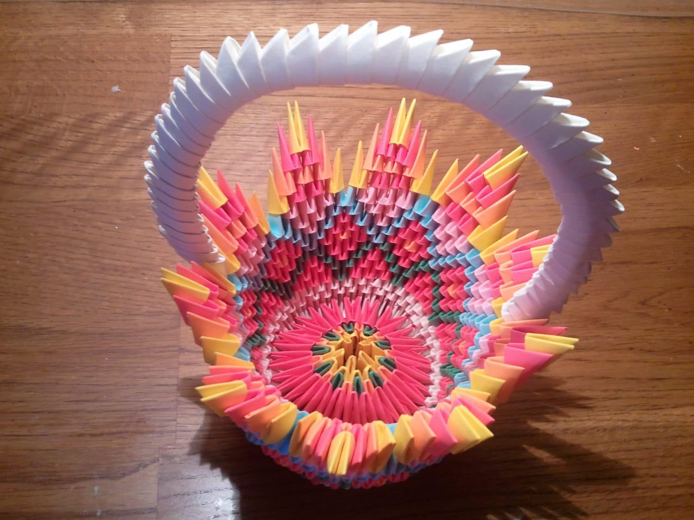 3d Origami Basket Zoom Mightylinksfo