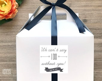 We can't say I DO without you! / Bridal Party Question Boxes / Bridesmaids' Gift Boxes / Bridesmaids' Favors - GBW-59