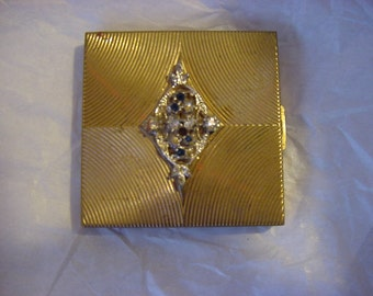 Vintage Jeweled Volupte compact. Made in 60's.