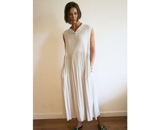 Dress NEW Grey Daywear Dress Plus Dress Light Summer Maxi Size Stone Viscose Maxi Sleeveless Have Dress Pocket Tank Dress Dress Must qRwA0