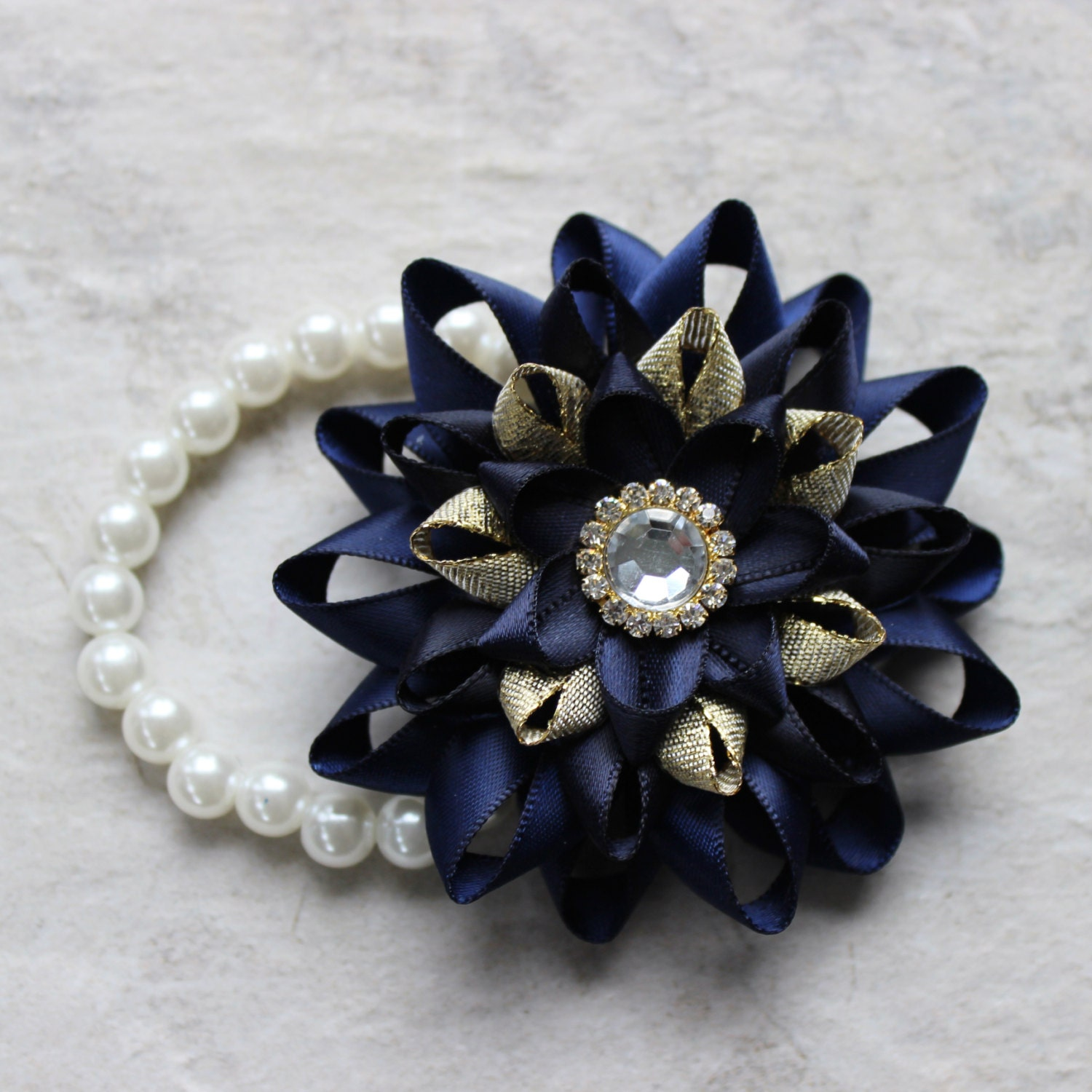 Wrist corsage navy blue corsage navy blue and gold prom corsage wrist corsage navy blue corsage navy blue and gold prom corsage homecoming corsage wrist flowers dark blue navy wedding corsages izmirmasajfo Gallery