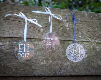 Personalized Name and Year Ornament