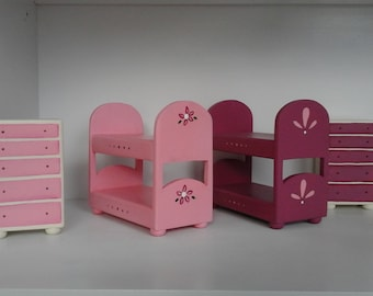 doll bunk bed and dresser