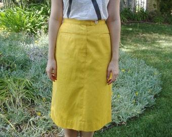 Vintage Yellow Evan Picone Skirt XS/S