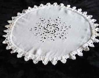 """Embroiderydoily Richelieu round diameter 16"""""""