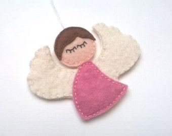 Felt angel  ornament - felt ornaments - Christmas/Housewarming home decor - baby shower gifts - nursery decor