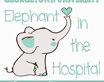 Elephant in the Hospital (Georgetown University) Stickers