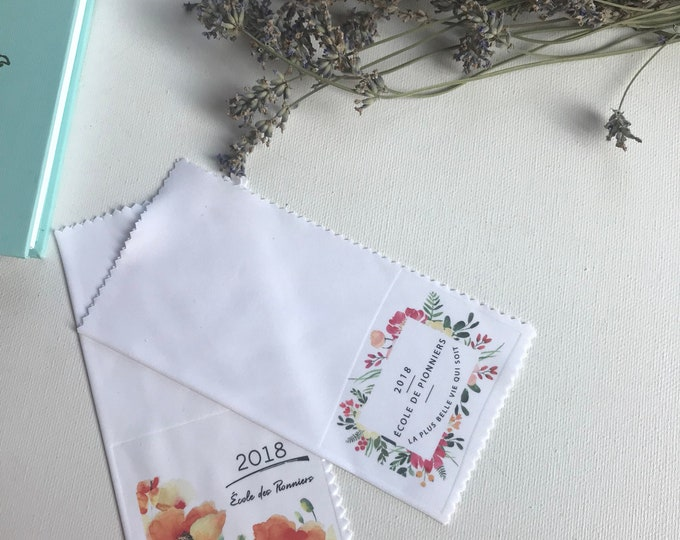 Set of 35 Poppy Flowers French Pioneer Service School Gift - Lens Cloths