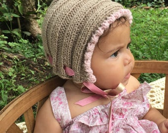 Baby hat knitting kit - pure cashmere - hat knitting kit - Free shipping