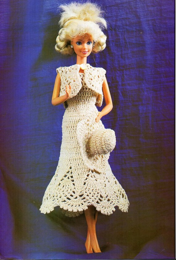 Barbie Crochet Pattern PDF teenage doll clothes Barbie dress bolero ...