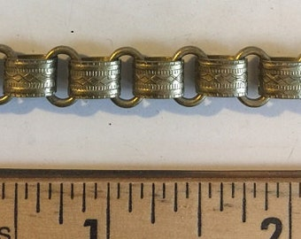 Textured Antique Brass Vintage Reproduction Chain