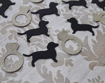 Dachshund Gold Confetti Table Confetti Table Decorations Party Decorations Wedding Bridal Shower Engagement Party Table Scatter