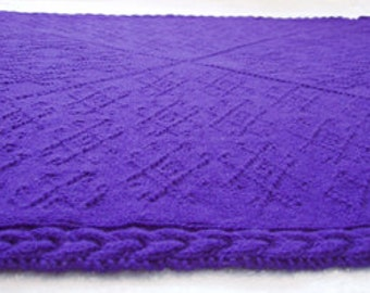 "Baby blanket (""Around the Block"") knitting pattern (PDF)"