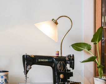 Upcycled Singer Sewing Machine Lamp - Industrial Lamp