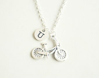 Cycle necklace, Bicycle gifts, Bicycle necklace, Cycle Jewelry, Cycling gift, Gift for cyclist, Bicycle jewelry, Cycling Jewelry, Silver