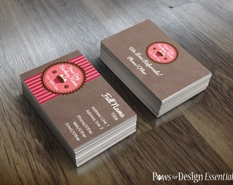 Premade Pet Bakery Business Cards - Pupcakes! - pet bakery dog bakery pet treats dog treats customizable
