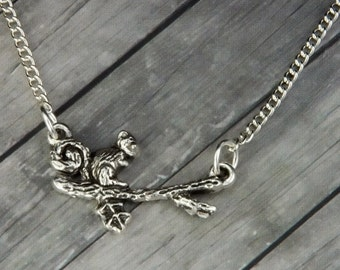Squirrel Necklace - Squirrel Jewelry - Animal Jewelry - Charm Necklace - Bridesmaid Gift - Gifts for her - Squirrel - Birthday Gifts for Her