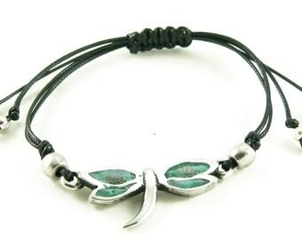 Orgone Energy Shamballa Style Bracelet - Dragonfly Friendship Bracelet - Choose Your Stone/Color - Natural Gemstones - Artisan Jewelry