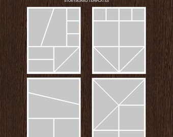 16x20 Photo Storyboard Templates - Photo Collage Template - PSD Template - Resize to 8x10 - For Photographers - Instant Download - S223