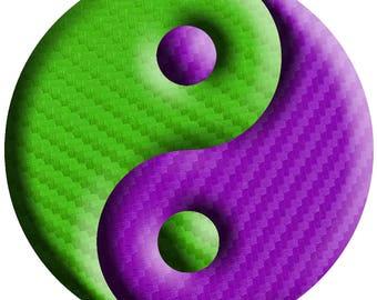 Yin Yang 3D Decal - 4 Inch Symbol Sticker