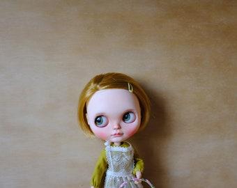 blythe vintage mustard lace dress set