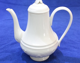 Vintage CH Field Haviland Limoges Imperatrice ALL WHITE  Coffee Pot