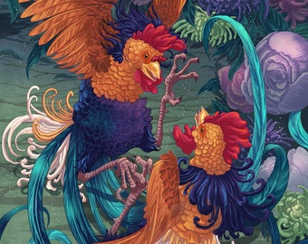 Year of the Rooster - print