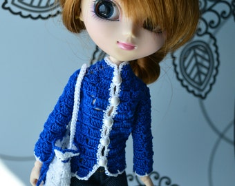 2 pcs set: Sweater/cardigan with bag for Pullip Obitsu 27