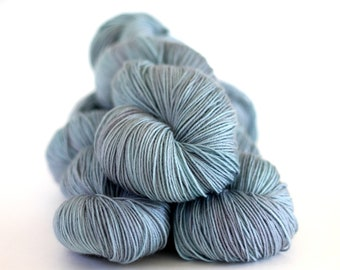 "Hand Dyed yarn  Peyton Sock""Chalkpaint Blue"", sock yarn, merino nylon high twist"