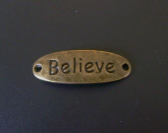 Believe Connector Charm - Bronze - Low Shipping